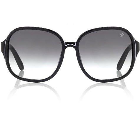 Proenza Schouler Oversized Etched Sunglasses - Black