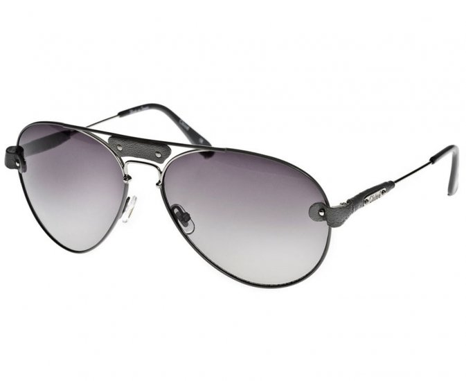 Chloé Tamaris Leather Aviator Sunglasses - Grey