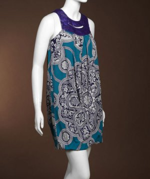 Nicole Miller Print Bubble Dress - US 0/2