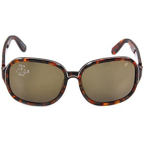 Proenza Schouler Oversized Etched Sunglasses - Tortoise