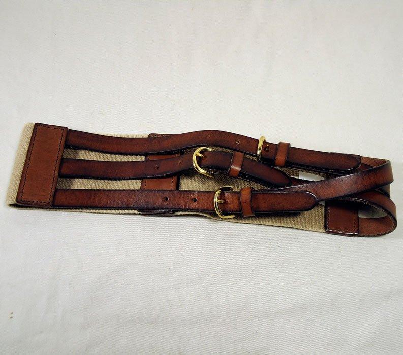 J. Crew Equestrian Tri-Buckle Belt