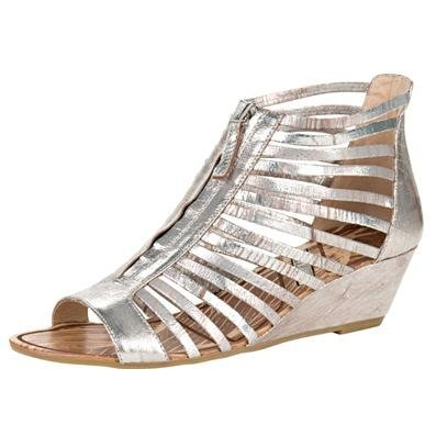 Matiko Gladiator Wedge Sandal - US 8.5 - Pewter