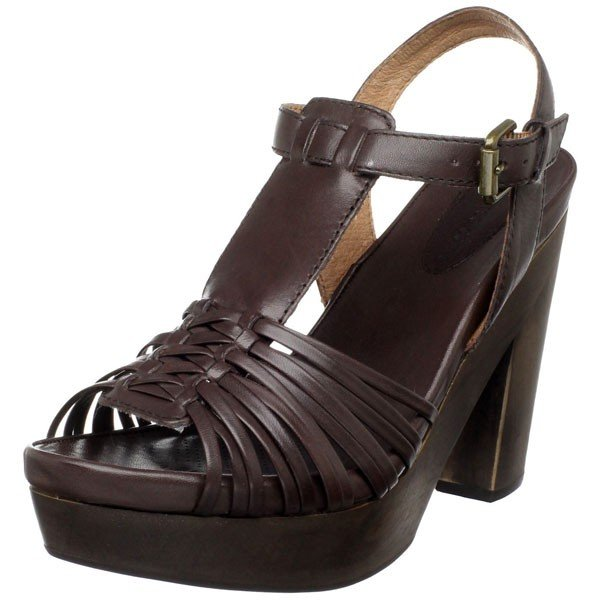 Corso Como Wood Platform Sandal - US 8.5 - Coffee