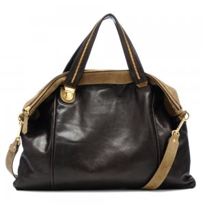 Be & D Kitty Lambskin Tote Bag - Java