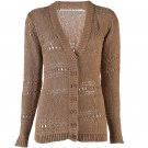 Twelfth St by Cynthia Vincent Tape Yarn Cardigan - L