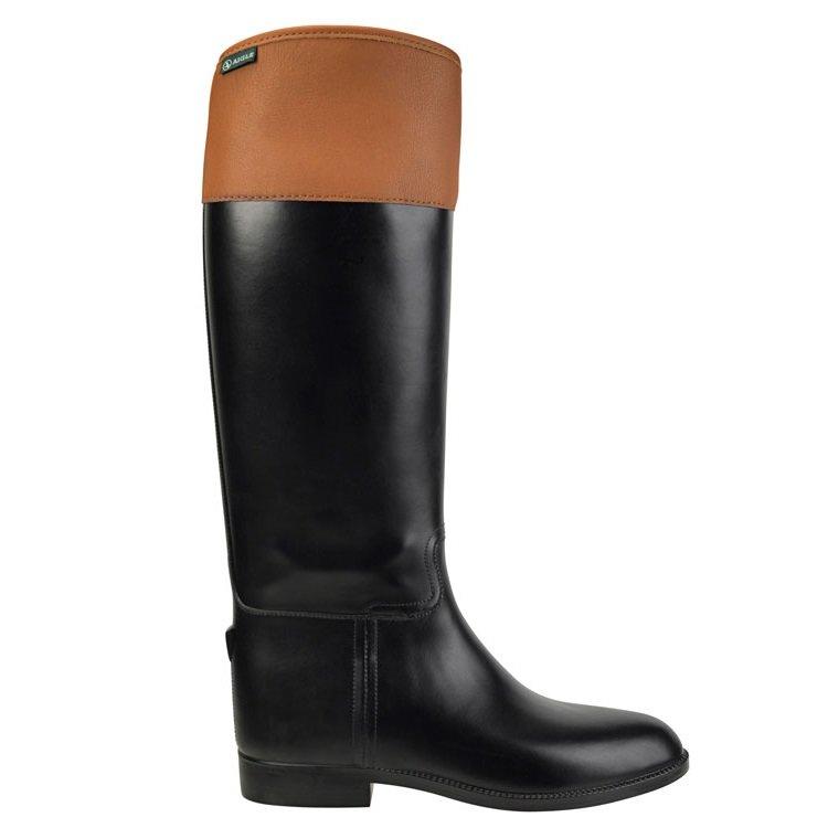 816f08594962 Aigle Jumping II Rubber Riding Boot - Black/Tan - 43 - M
