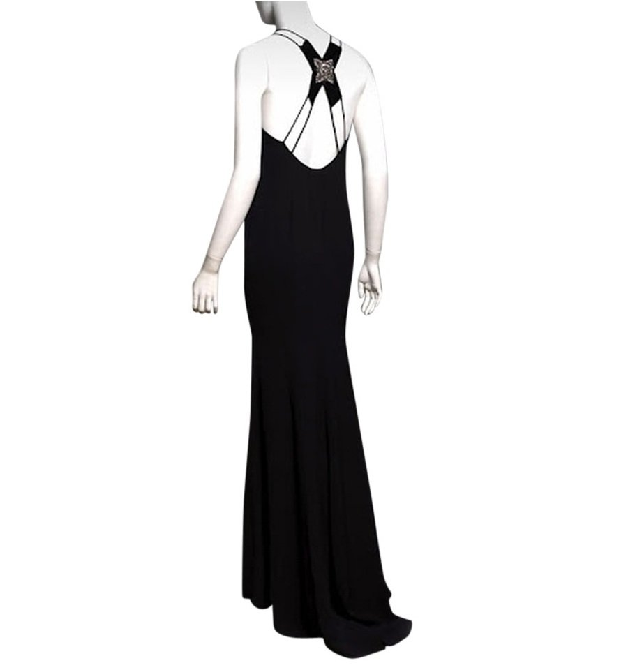 Carolina Herrera Jewel Back Evening Gown - US 4 - Black
