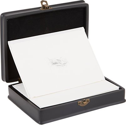D.L. & Co. Flourished Bird Notecard Resin Gift Box