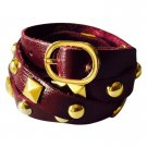 Nakamol Rocker Stud Leather Wrap Bracelet - Plum