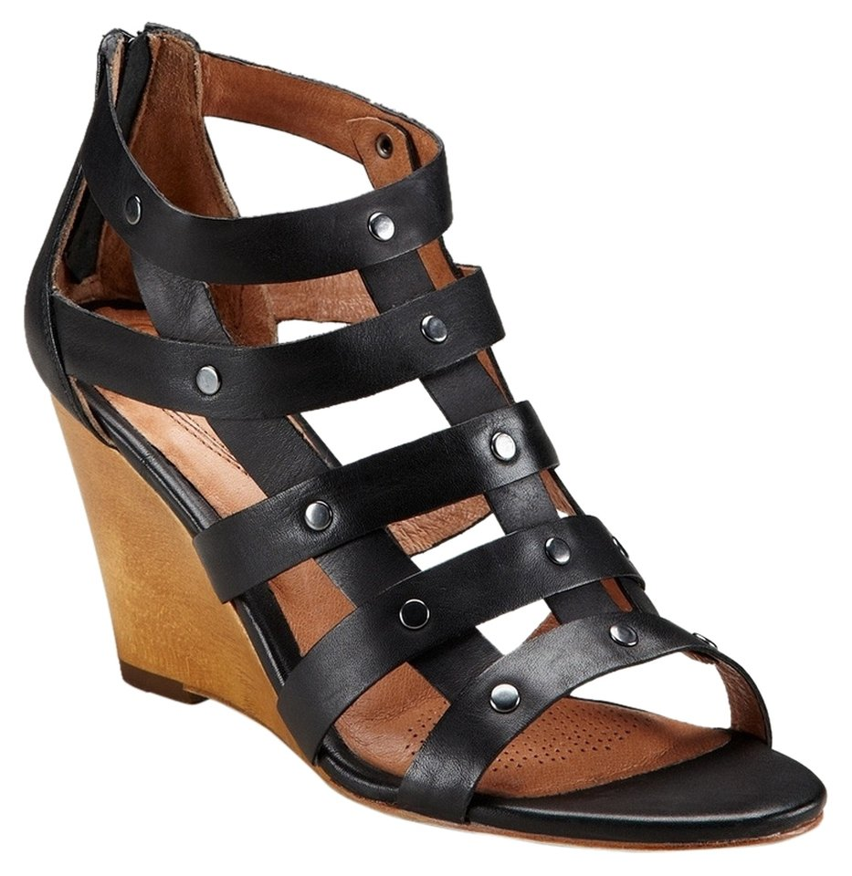 Corso Como Gladiator Wedge Sandal - US 8.5 - Black
