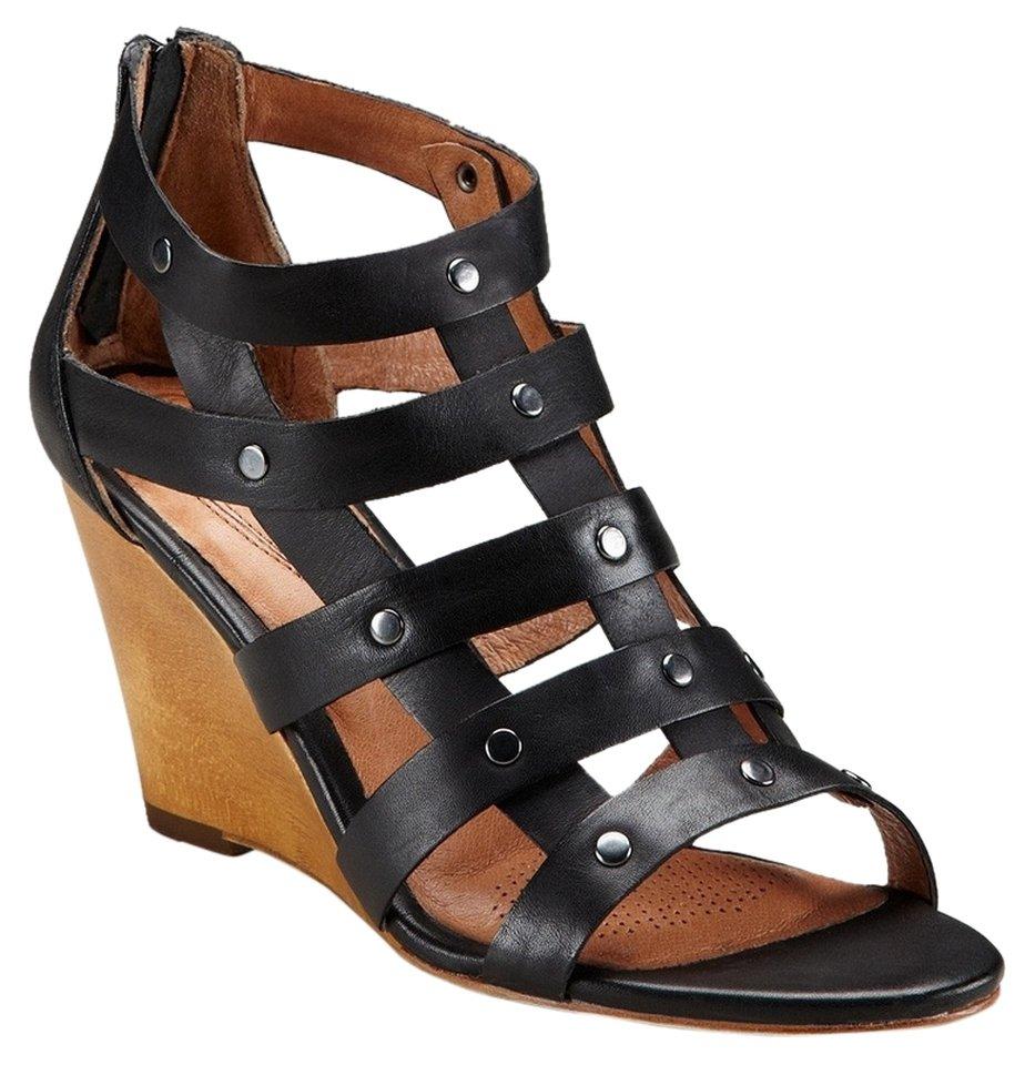 Corso Como Gladiator Wedge Sandal - US 10 - Black