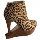 Matiko Carmen Cut Out Wedge Bootie - US 8 - Leopard Haircalf