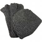 Alpaca Hand Knit Hat - Charcoal