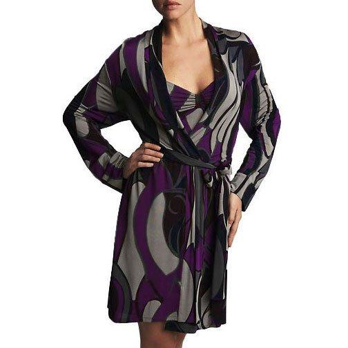 Natori Milano Print Belted Wrap Robe - XS (US 4)
