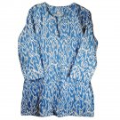 Nusantara Cotton Ikat Tunic - M (US 8) - Blue