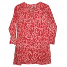Nusantara Cotton Ikat Tunic - M (US 8) - Red