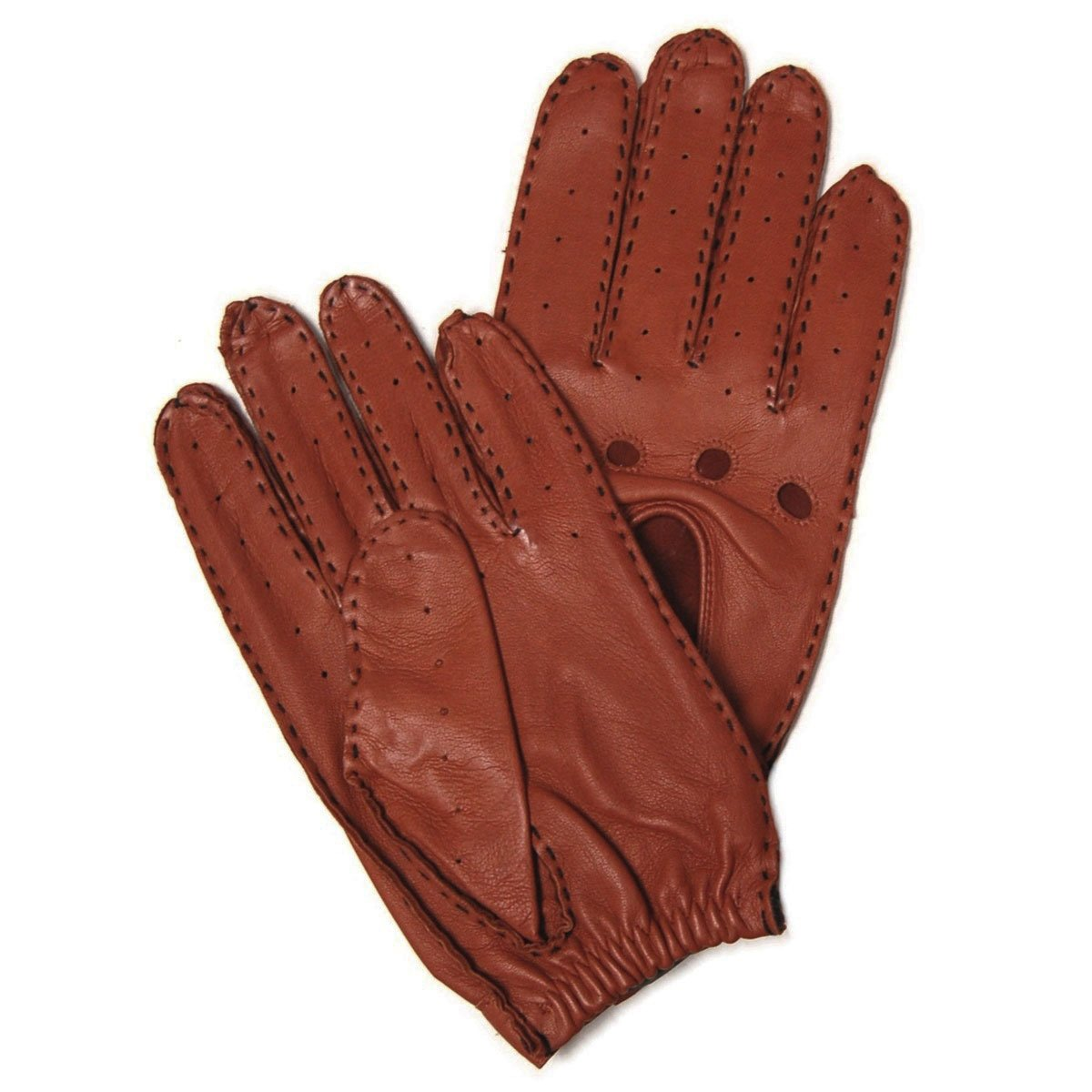 Hilts-Willard Men's Leather Driving Gloves - L - Brown
