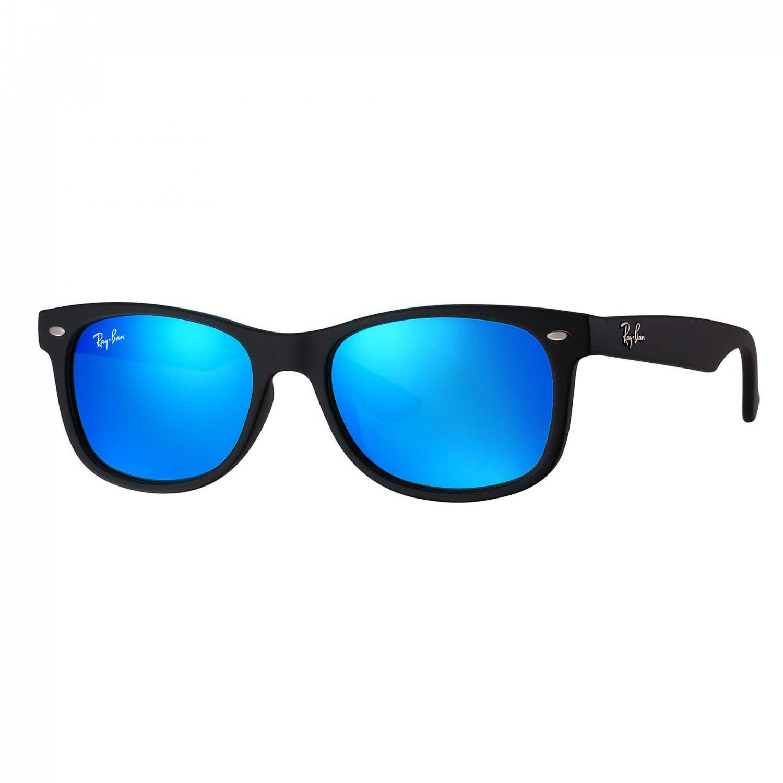 Ray-Ban Jr New Wayfarer Sunglasses - MatteBlack/Blue Flash - 47mm