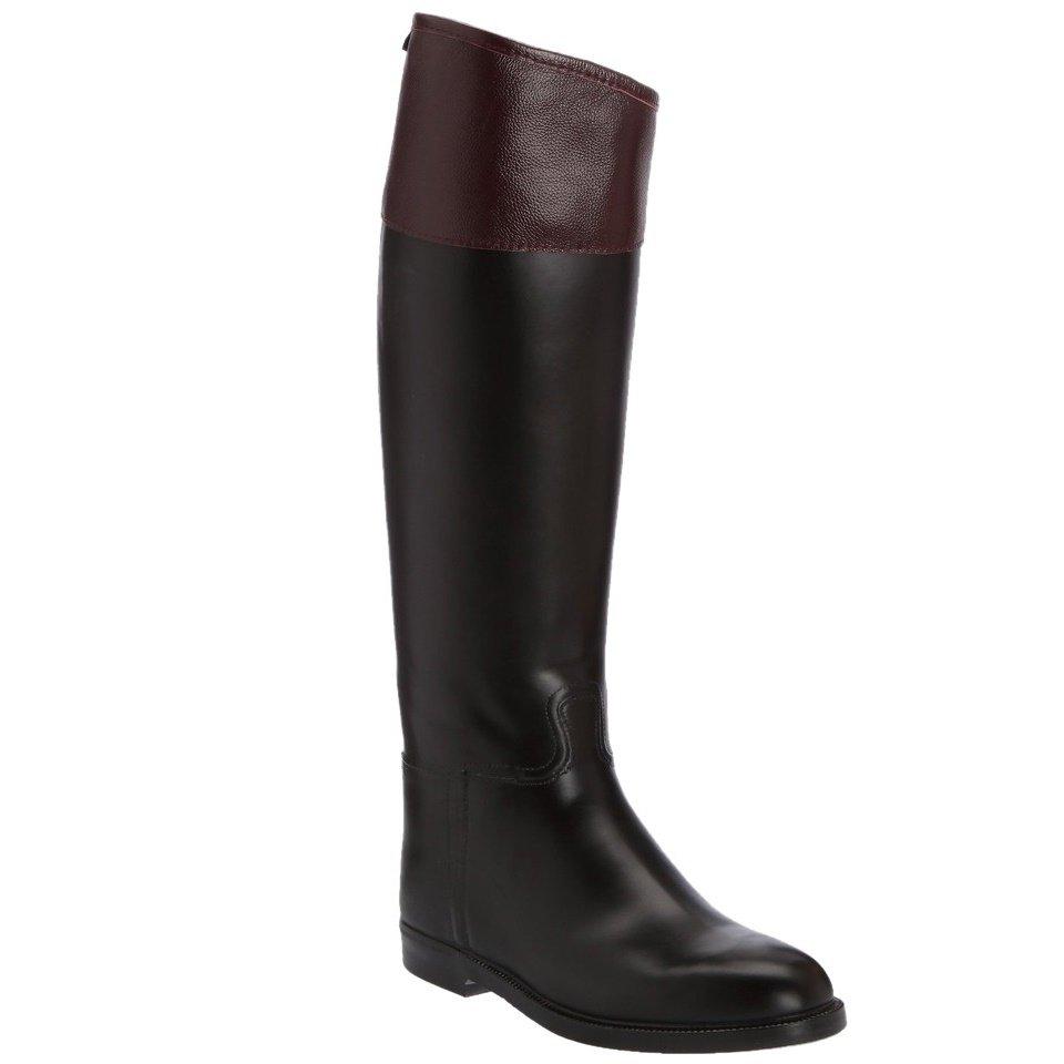 1d545580c17a Aigle Jumping II Rubber Riding Boot - Black/Bordeaux - EU 37 - XL