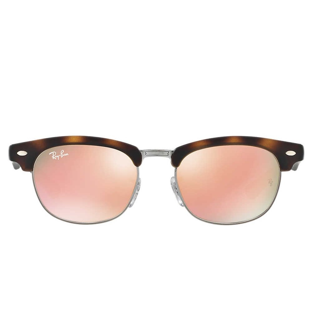 Ray-Ban Jr Clubmaster Sunglasses - Matte Tort/ Mirror Copper