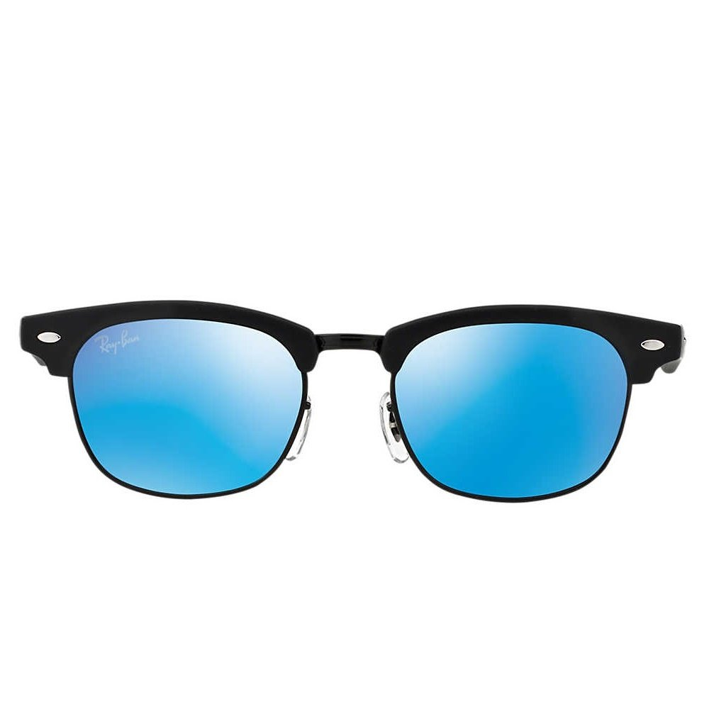 Ray-Ban Jr Clubmaster Sunglasses - Matte Black/Mirror Blue
