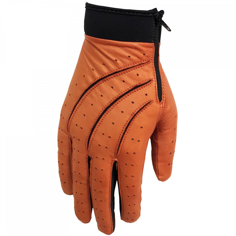 Hilts-Willard Men's Leather Stretch Driving Gloves - S - Tan/Black