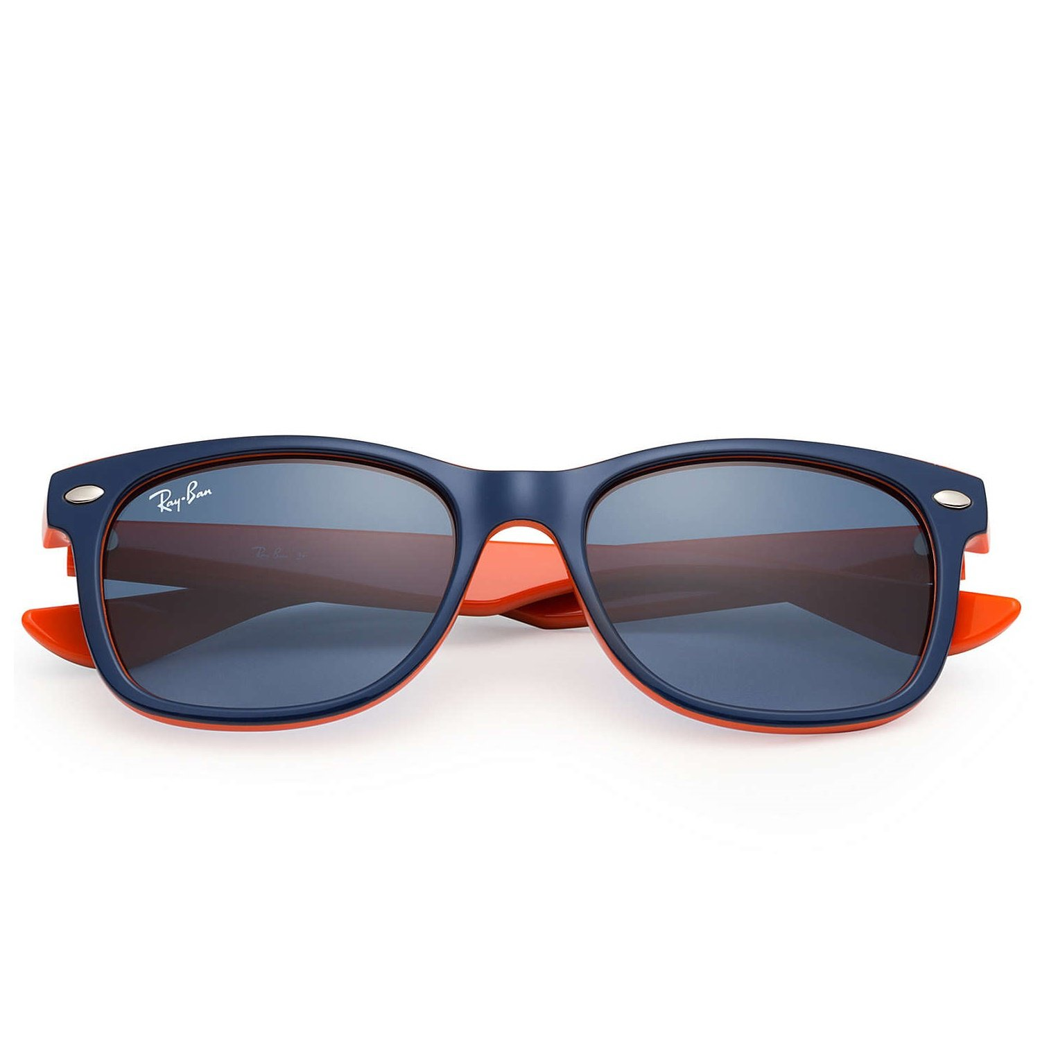 Ray-Ban Kids New Wayfarer Sunglasses - Navy/Orange - 50mm