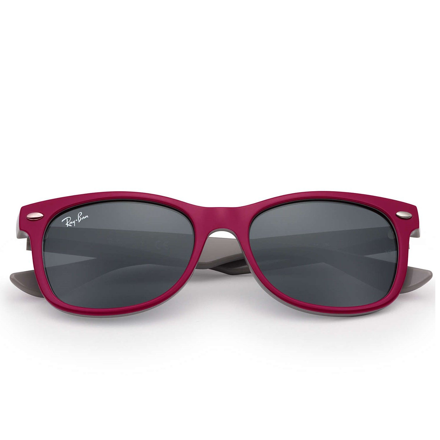 Ray-Ban Jr New Wayfarer Sunglasses - Berry Red/Grey - 48mm