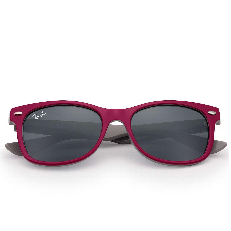 Ray-Ban Jr New Wayfarer Sunglasses - Berry Red/Grey - 48mm