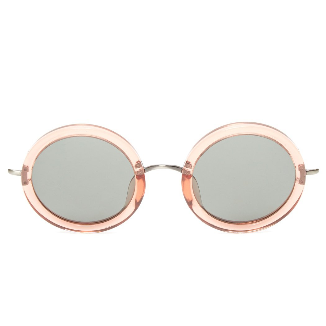 Linda Farrow x The Row Round Sunglasses (Rose)