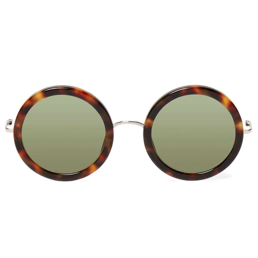 Linda Farrow x The Row Round Sunglasses (Classic Tort)