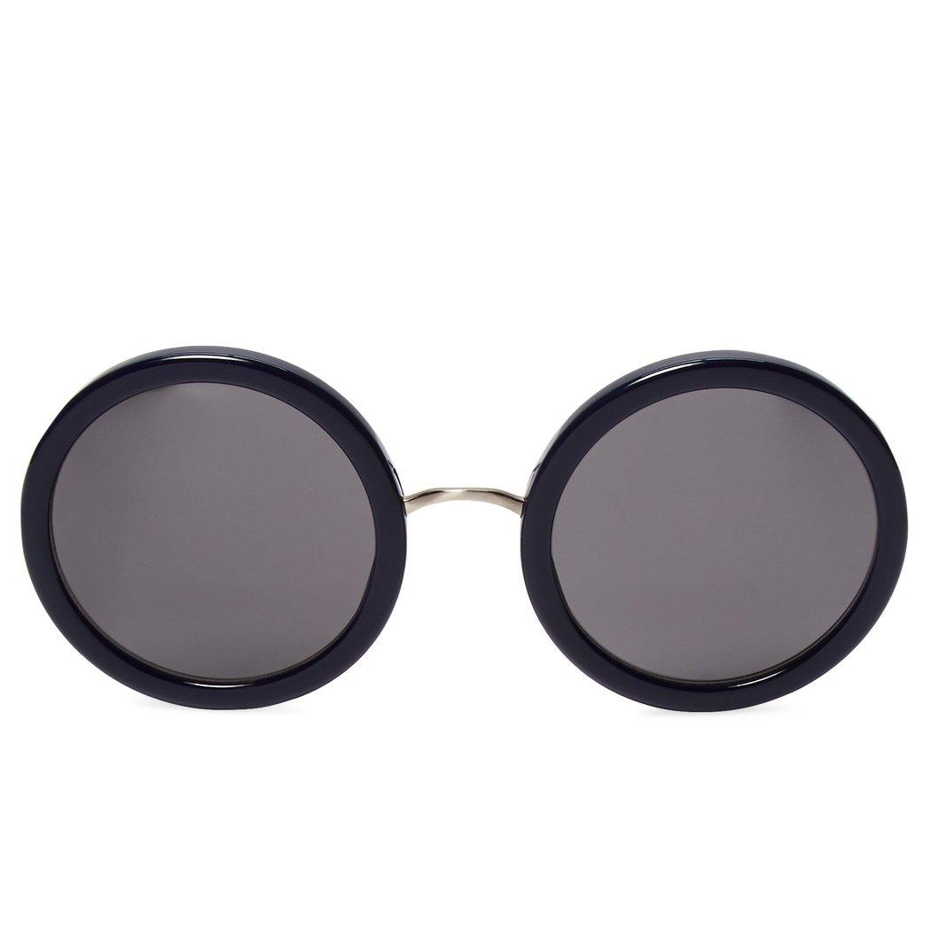 Linda Farrow x The Row Round Sunglasses (Navy)