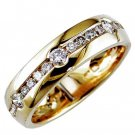 Mens Diamond 14K Gold Ring