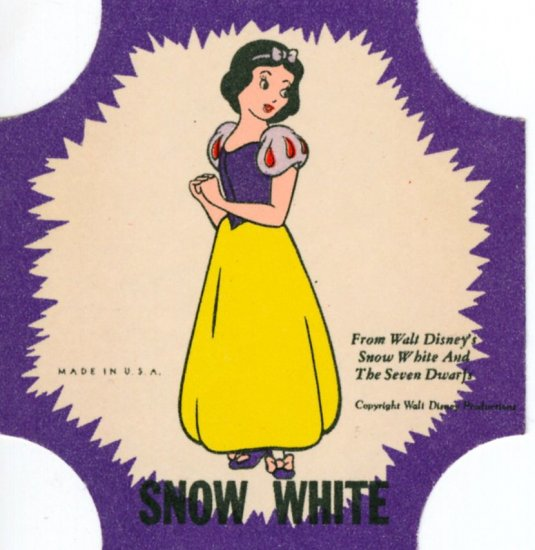 Disney's Snow White Bread Promo Label Uncut