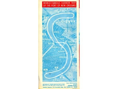 New Orleans Visitor's Map/Guide '66 President Steamboat
