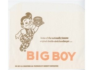 BIG BOY HAMBURGER/SANDWICH WRAP/BAG VINTAGE