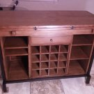 Kitchen Buffet Island & Dining Table with Wine Display