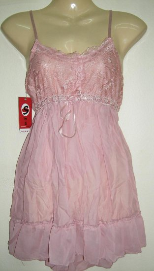 Women Sexy Trendy Fashion Designer T-Shirt Tank Top Dress Pink