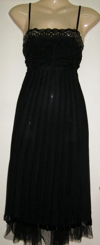 Women Sexy Trendy Fashion Designer T-Shirt Tank Top  Dress Black