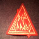 DEF LEPPARD iron-on PATCH triangle logo VINTAGE