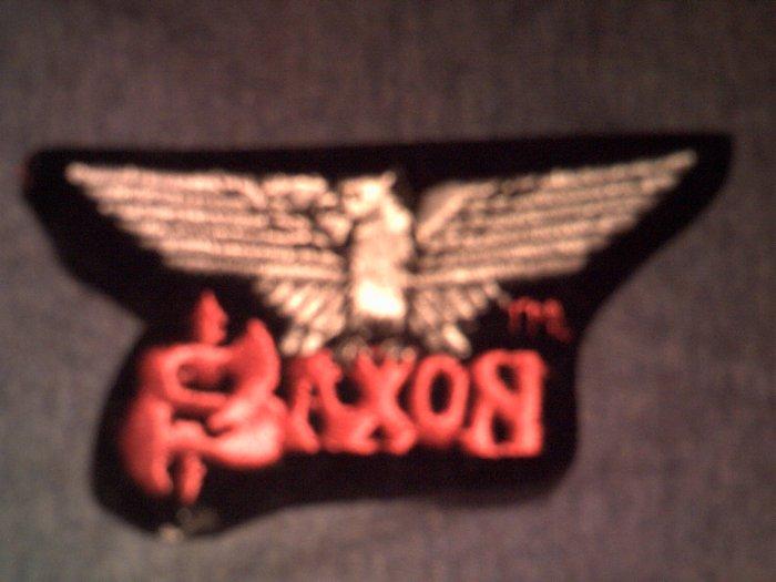 SAXON iron-on PATCH eagle logo VINTAGE