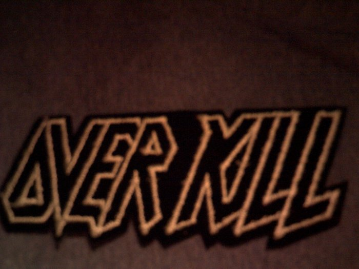 OVERKILL iron-on PATCH green logo over kill VINTAGE