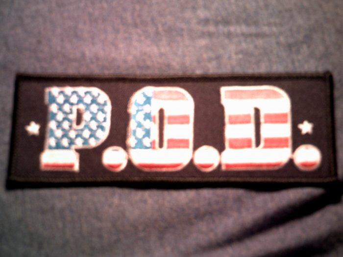 P.O.D. iron-on PATCH USA logo payable on death pod