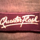 QUARTERFLASH iron-on PATCH purple logo quarter flash VINTAGE