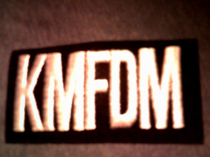 KMFDM iron-on PATCH B&W logo VINTAGE