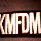 KMFDM iron-on PATCH B&W logo VINTAGE