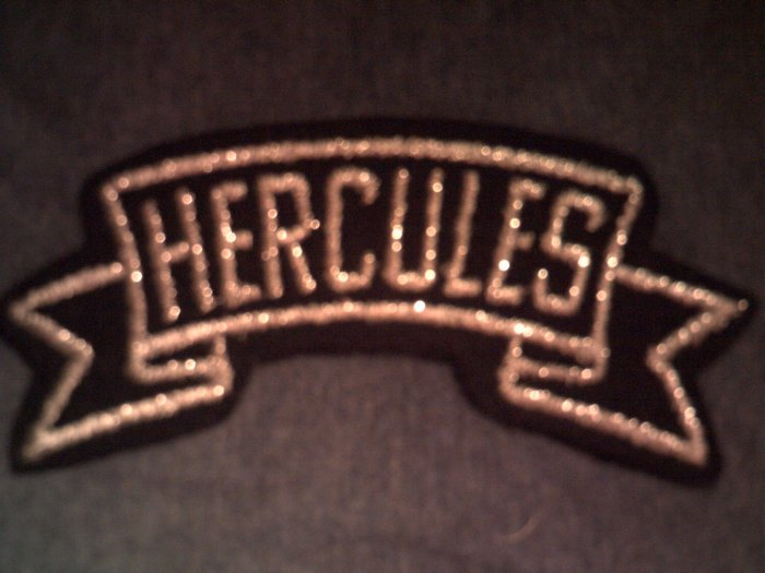 HERCULES iron-on PATCH silver logo VINTAGE 70s SALE