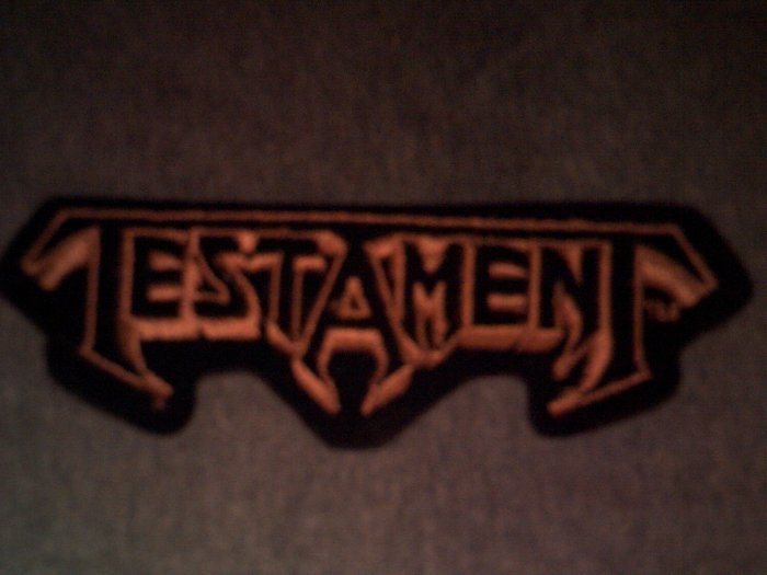 TESTAMENT iron-on PATCH gold logo VINTAGE