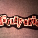 MOTLEY CRUE iron-on PATCH Decade of Decedance diecut logo VINTAGE