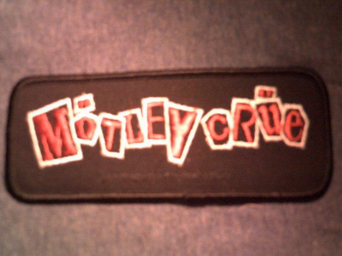 MOTLEY CRUE iron-on PATCH Decade of Decedance rectangle logo VINTAGE